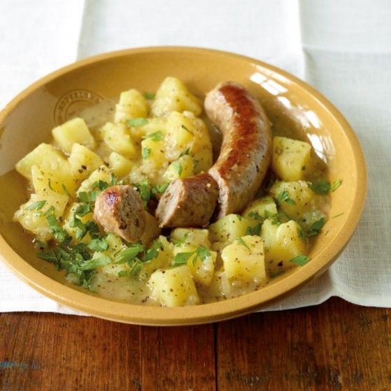 Kartoffelgemüse mit Bratwurst