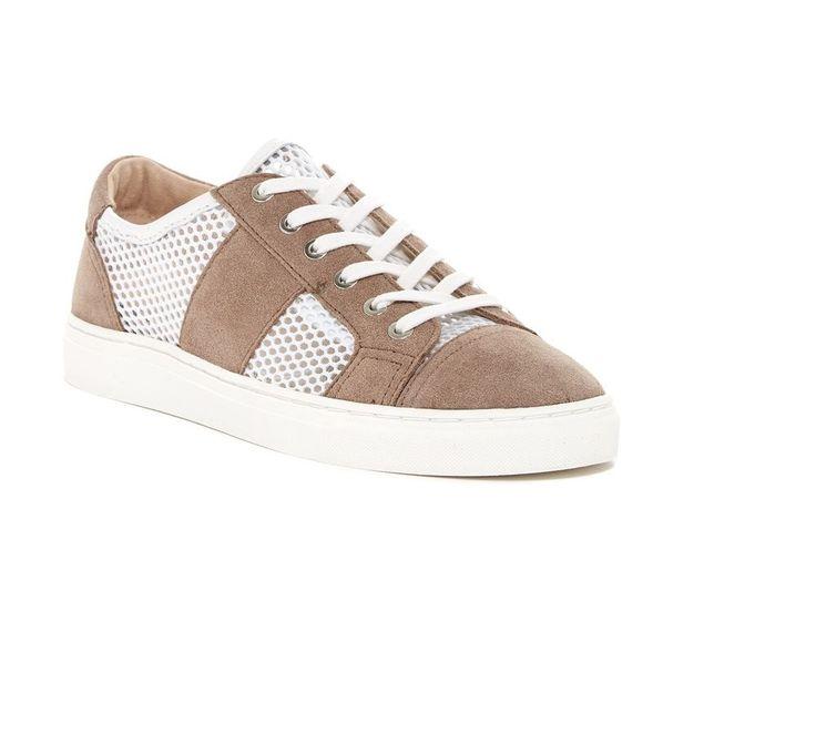 $98 Vince Camuto Breya Suede & Mesh Laced Sneaker brown size 6 - 8M NIB #VinceCamuto #sneakers