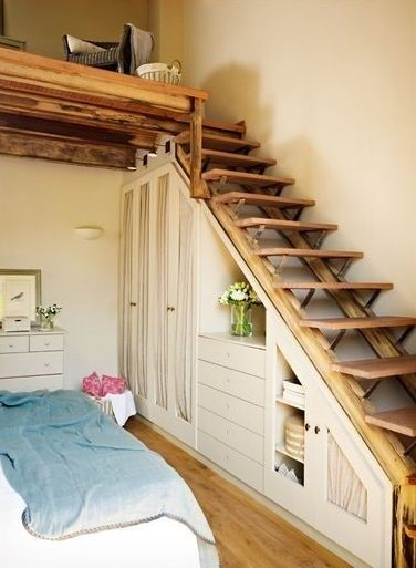 Wonderful Use Of Space Under These Stairs That Lead Up To Loft. Not An Inch
