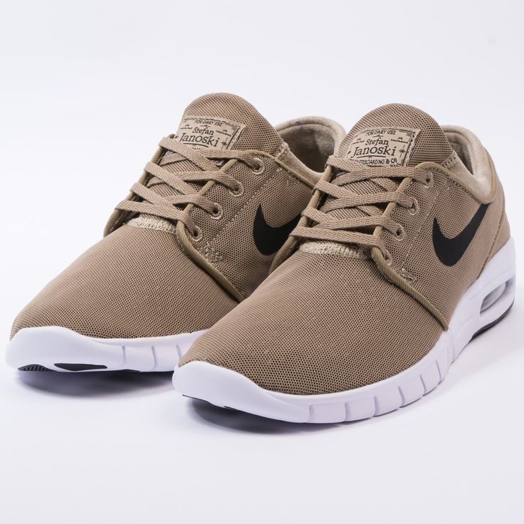 Nike stefan janoski max (khaki/black-white)-1
