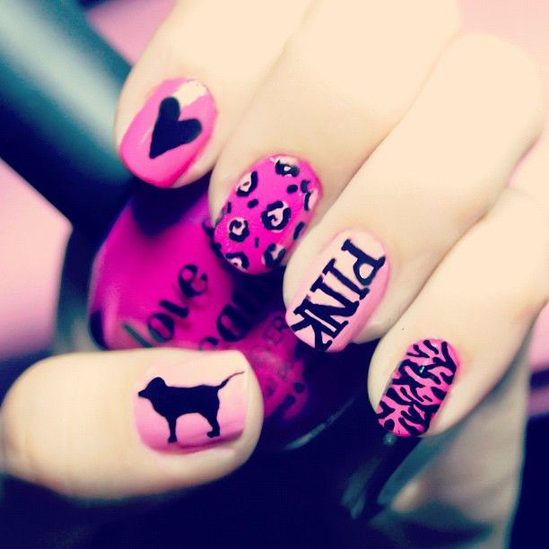 Vs nails...So cute! I want em