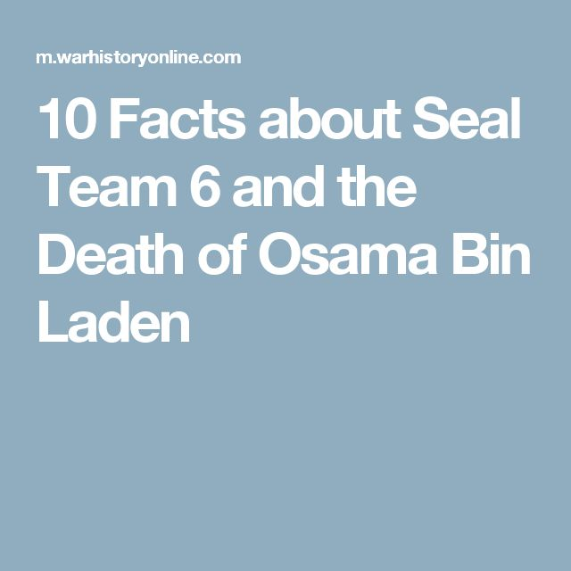 10 Facts About Seal Team 6 And The Death Of Osama Bin Laden