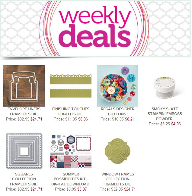 Stampin Up! with Sheri: Weekly Deals