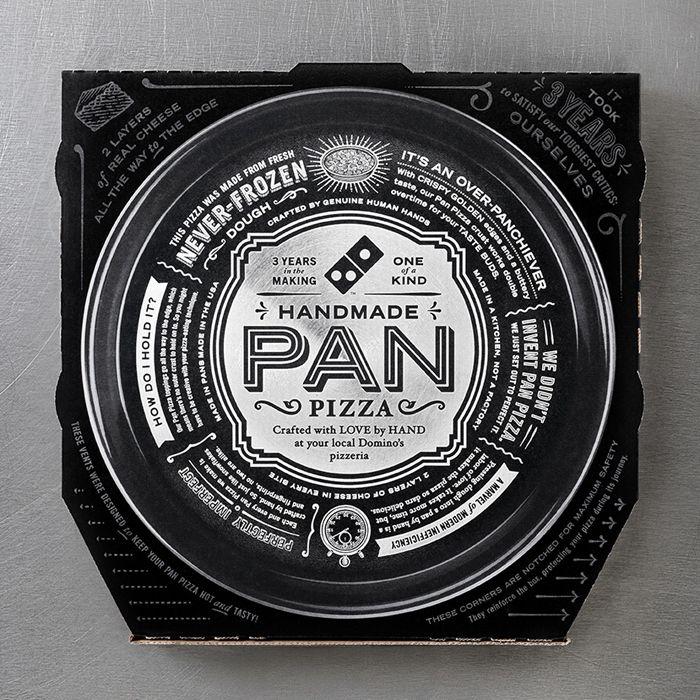 Dominos Handmade PanPizza - The Dieline -