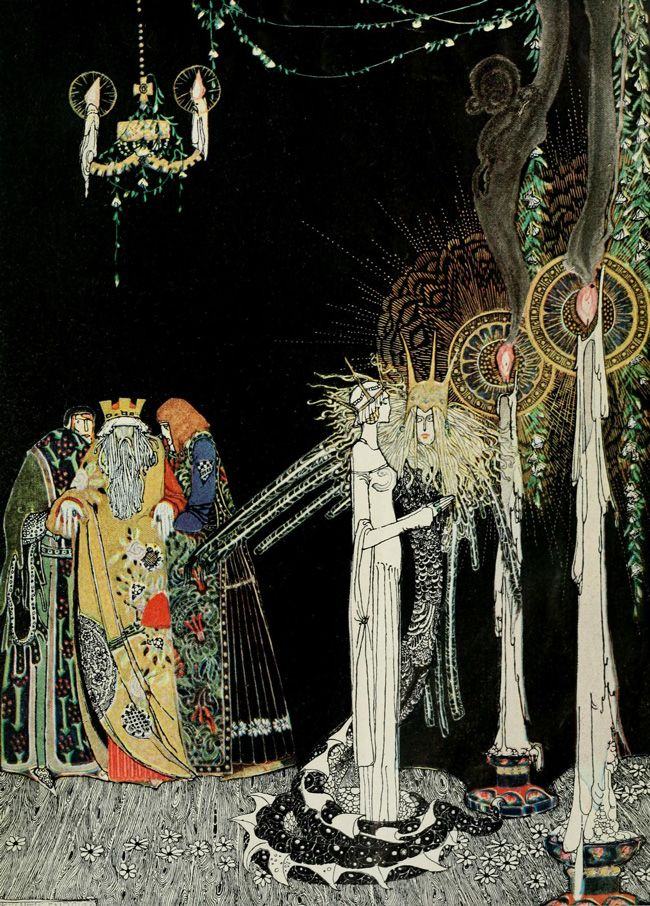 """Kay Nielsen - illustration """"Poudre et crinoline"""""""