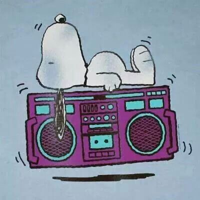Snoopy and music