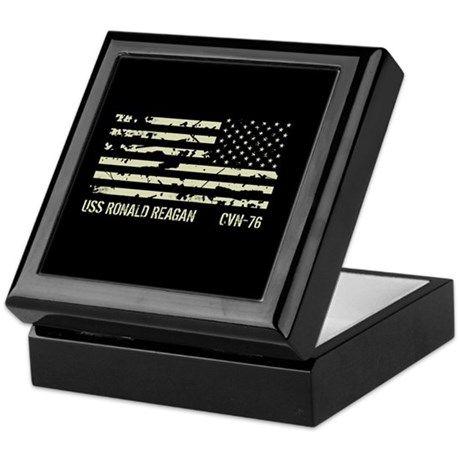 USS Ronald Reagan Keepsake Box on CafePress.com