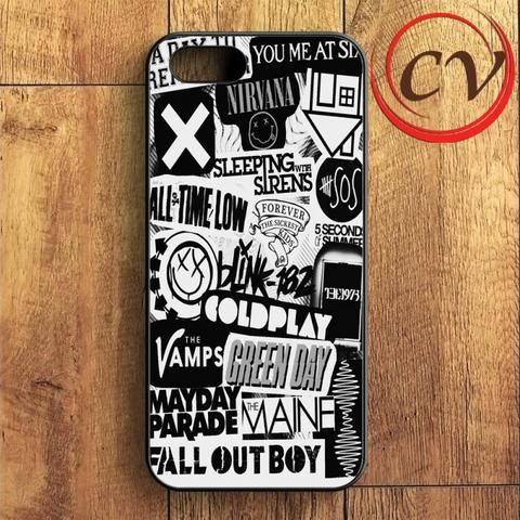 5sos Coldplay Fall Out Boy The Vamps 1975 iPhone SE Case