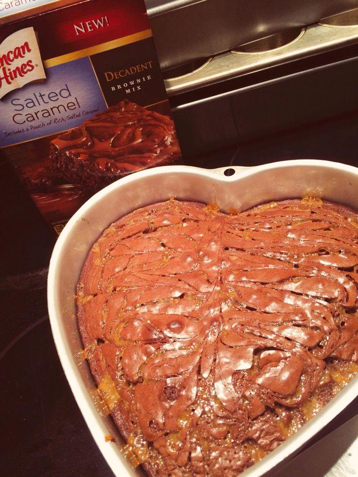 Sweet tooth? Try Duncan Hines easy bake salted Carmel brownies, best late night …