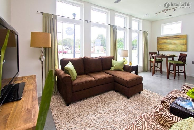 Living Room Ideas With Sectionals Sofa For Small Living: Yellow Sofa With Tan Walls