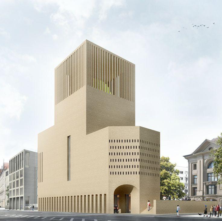 The House of One in Berlin - Blick über die Gertraudenstraße in westlicher Richtung ©KuehnMalvezzi