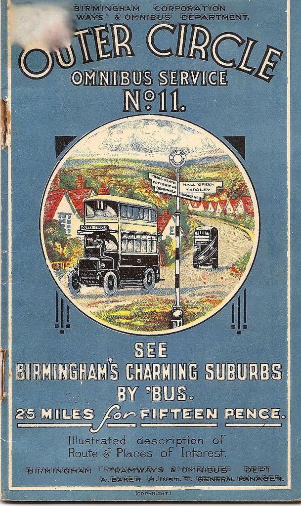 Birmingham bus guide c1925