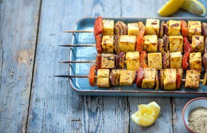 Alfred Prasad shares a glorious paneer and red pepper skewers recipe with Great British Chefs. Serve up at a barbecue as a vegetarian option