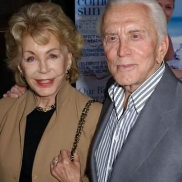 Kirk Douglas and Anne Buydens were married 58 years and still going - May 29, 1954 -