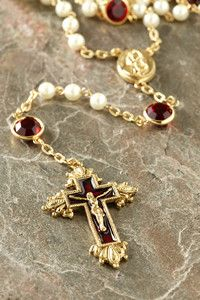 Siam Ruby Swarovski® Chanel Rosary – Celebrate Faith