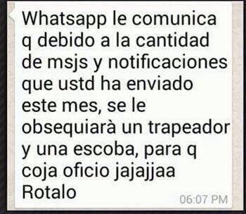 Notificación Whatsapp