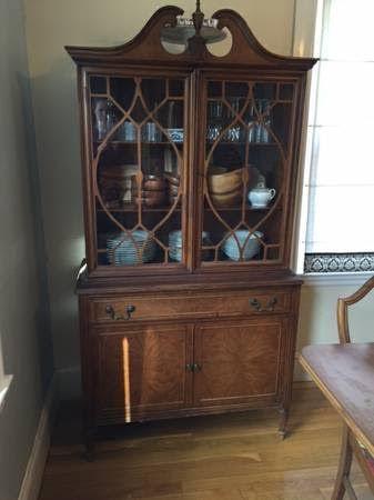 1000 ideas about vintage china cabinets on pinterest. Black Bedroom Furniture Sets. Home Design Ideas