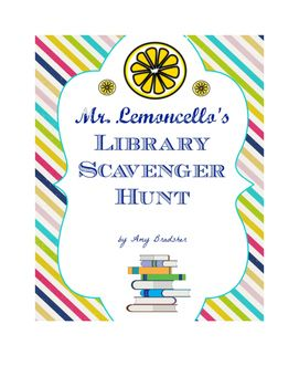 "FREE!  Mr. Lemoncello's Library Scavenger Hunt printable pack to accompany Chris Grabenstein's ""Mr. Lemoncello's Library Olympics"""
