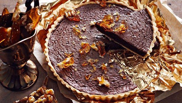 Chocolate Tart with Walnut Praline