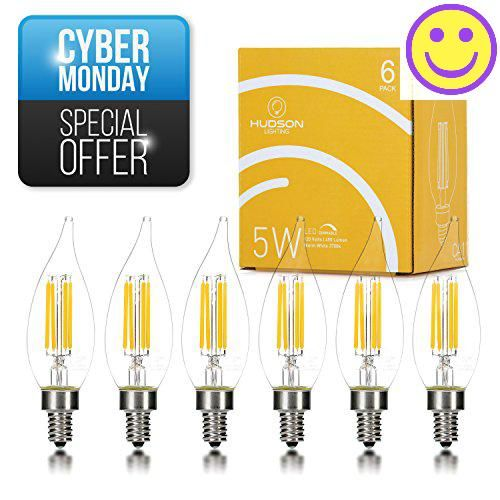 #christmasshopping PERFECT 360 DEGREE OF LIGHT OUTPUT #Hudson #Lighting, Inc. introduces this flame tip 6 pack of Candelabra bulbs to be an exact fit to your trad...