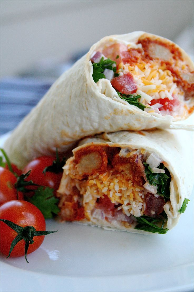 """Buffalo """"Chicken"""" Ranch Wraps 