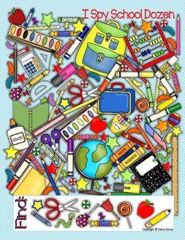 """FREE: """" I Spy SCHOOL Dozen"""" poster"""