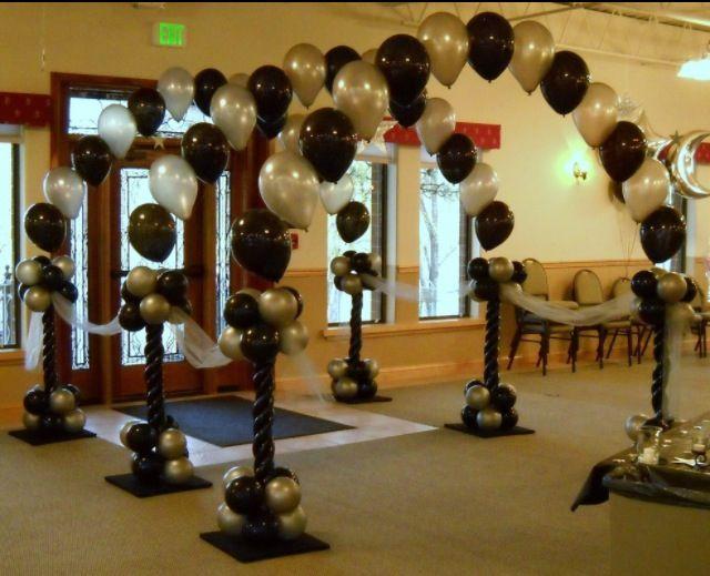 Balloon arch entryway.  #balloon-arch #balloon-decor #balloon-wedding-decor…                                                                                                                                                                                 More