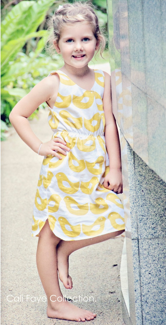 The Rounded Hem dress PDF pattern and by CaliFayeCollection, $7.99