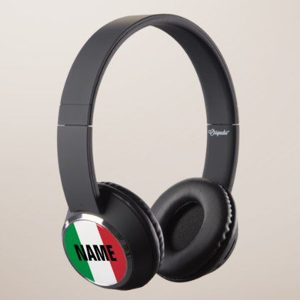 #Italian flag of Italy personalized gift Headphones - #country gifts style diy gift ideas
