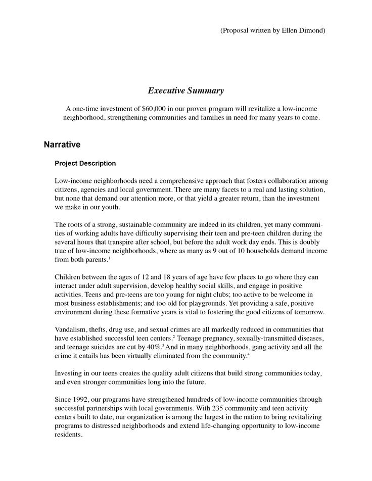Proposal written by Ellen Dimond Technical Writing Legal - program proposal