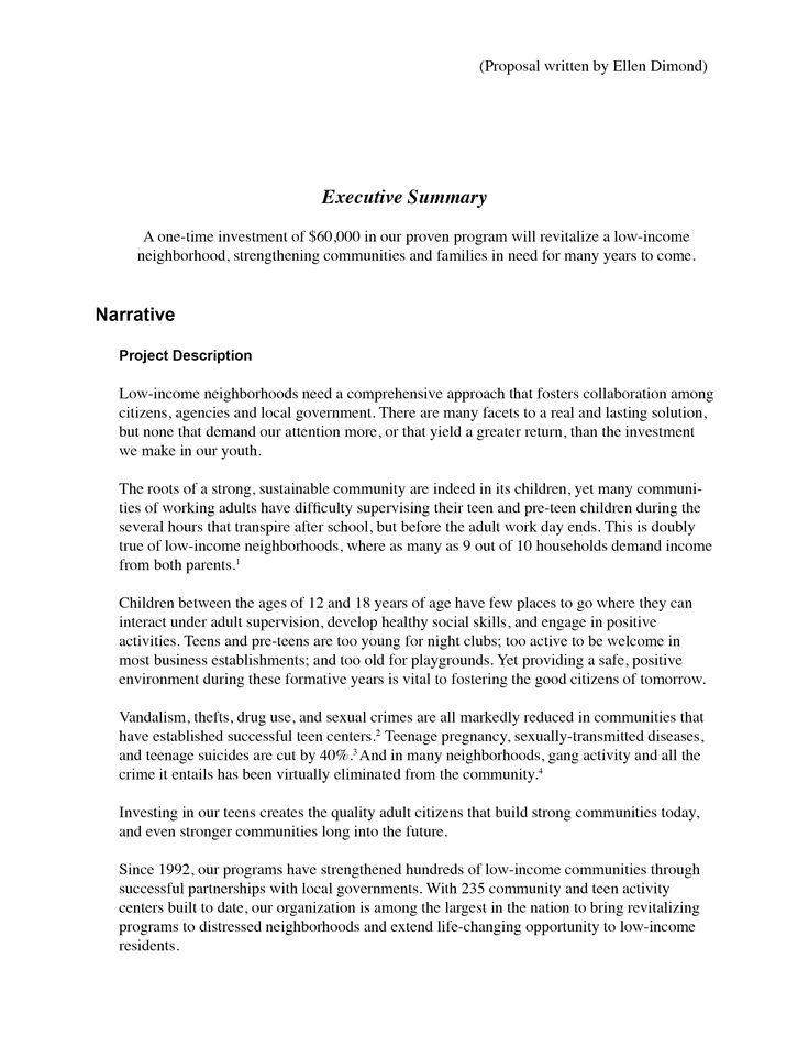 Proposal Written By Ellen Dimond  Technical Writing Legal
