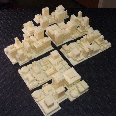 From virtual to reality, 3D printed Sim City #3dPrintedArchitecture
