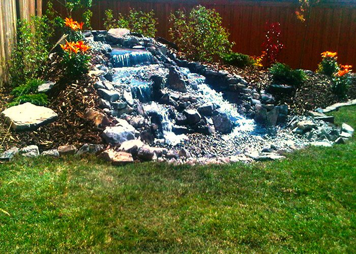 112 best images about pondless waterfall designs on for Backyard waterfall design some hints