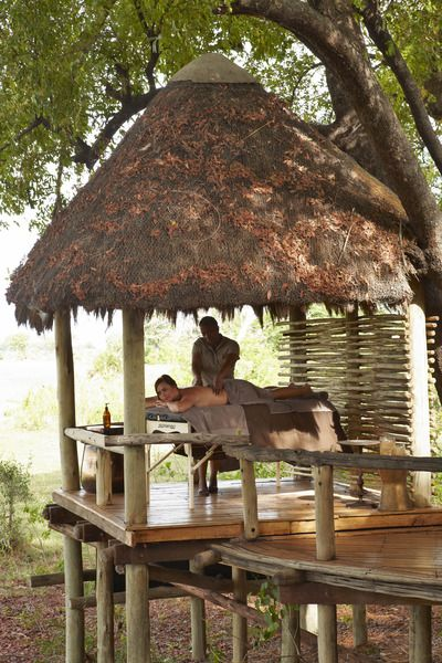 Luxury #spa treatments at #Mombo, a peaceful and private #safari experience deep in the heart of the Okavango Delta, #Botswana