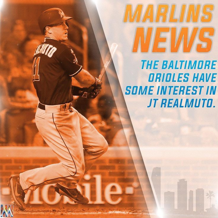 The Orioles reportedly have some interest in JT Realmuto.  _ With a lot of people's assuming Oriole's No. 1 prospect Chance Sisco will be their starting catcher the Orioles are intrigued by the Marlins catcher JT Realmuto it's difficult to imagine the Orioles coming up with the type of package that'd beat the field for Realmuto when the Marlins have been targeting pitching prospects in other trades.  _ #Orioles #Marlins #LetsGoFish #MiamiMarlins #MLB #JTRealmuto