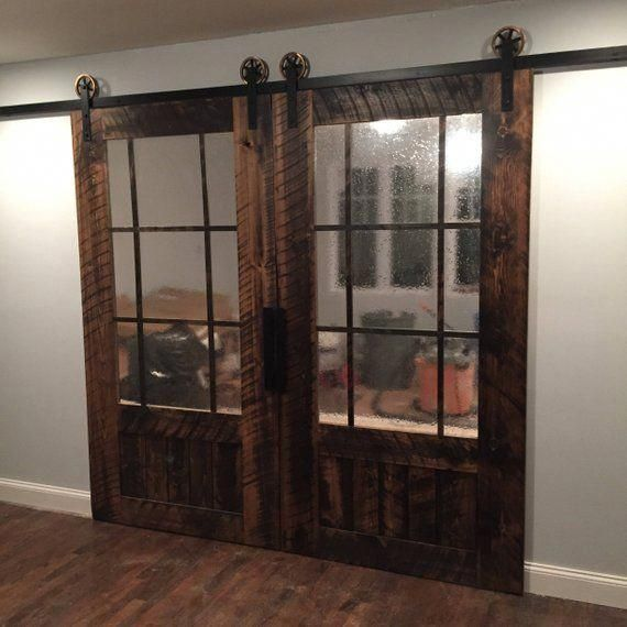Barn Style Interior Doors Pocket Door With Frosted Glass Panels Sliding Interior Double Doors 201 Glass Barn Doors Barn Doors Sliding French Doors Interior