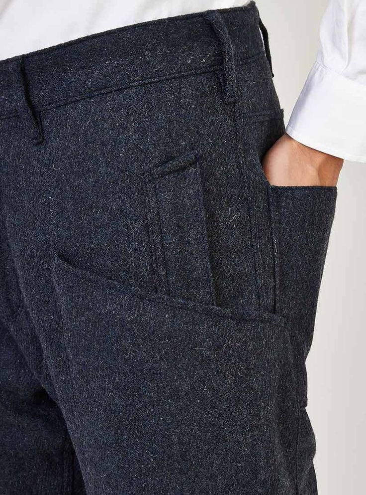 Pockets detail Garbstore Rydal Lodge Suit Trousers Blue http://www.couvertureandthegarbstore.com/product/garbstore/trousers-mens/rydal-lodge-suit-trousers-blue