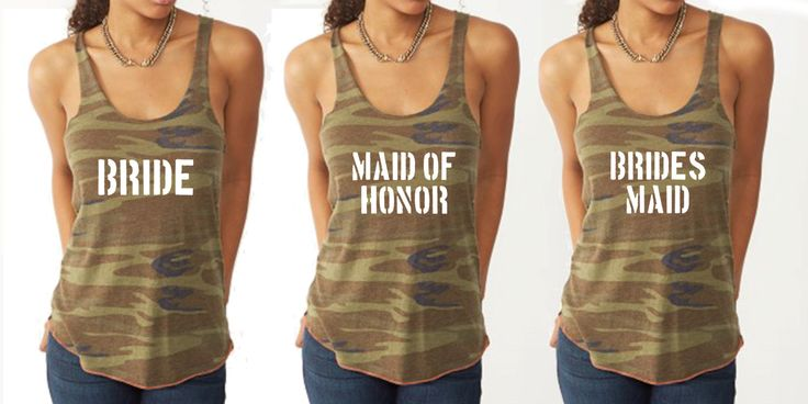 Camo Bridal Party Tanks Army Tanks Military Bride Tanks Bachelorette Tanks Army Wifey Camo Tanks by TeamBrideDesigns on Etsy
