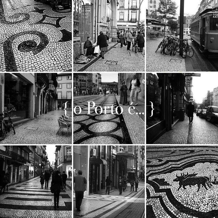 o mosaico na calçada portuguesa