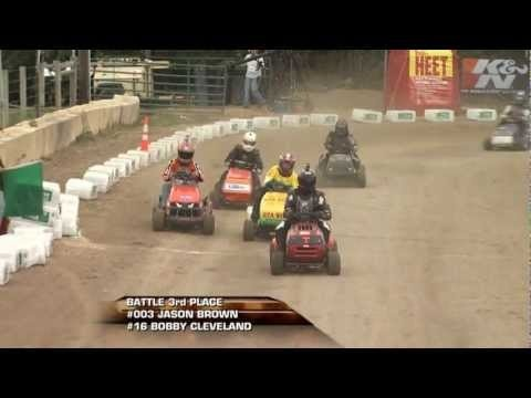 "2012 STA-BIL Keeps Gas Fresh Finals Video Clippings: BP Class. Fox Sports Net ""Race Freaks"" features the BP Class Championship Race at the 2012 STA-BIL Keeps Gas Fresh Finals, to determine the U.S. Lawn Mower Racing Association National Lawn Mower Racing Points Championship."