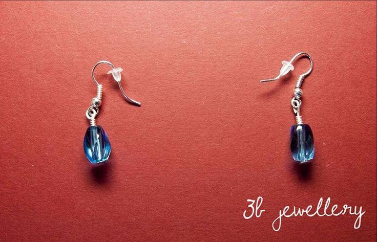 #blue #water #droplets #earrings for hot summer #3bjewellery #wirewrapping #beginner