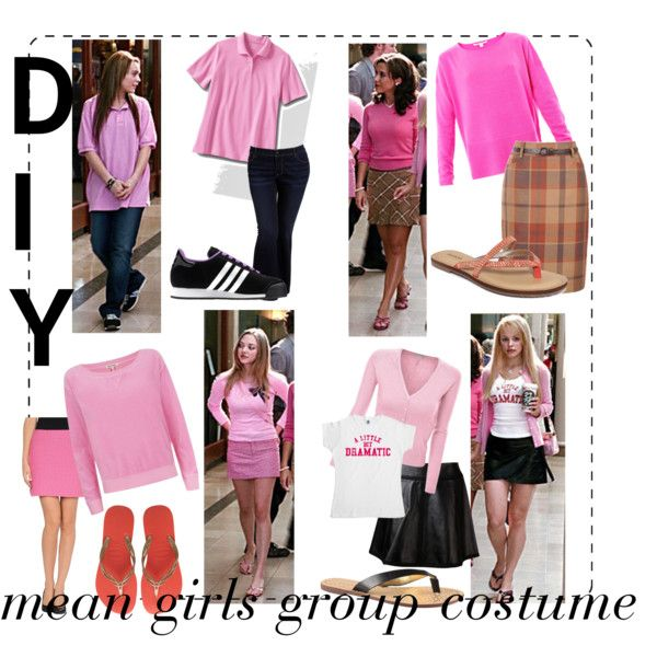 """""""DIY mean girls group costume"""" by youneedlovetolive on Polyvore"""