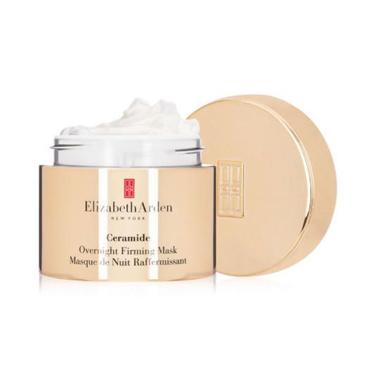 Elizabeth Arden Ceramide Overnight Firming Mask | Now that's what we call beauty sleep. No matter how much we value taking care of our skin, hair, and body, we're still all about efficiency. Because when you have things to do, places to be, and goals to accomplish, it's hard enough to manage even a simple beauty regime that gets it all taken care of. That's where the magic of overnight beauty products comes in. These nighttime treatments help you get gorgeous during your regularly scheduled