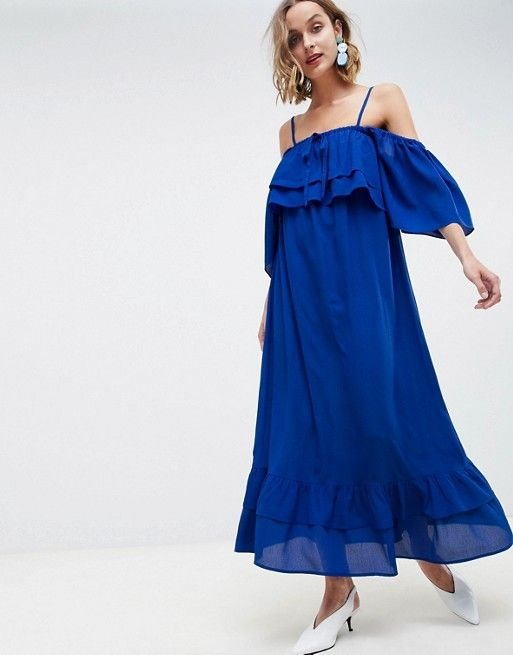 d2092e3cea0a Lost Ink Cami Maxi Dress With Ruffle Layered Hem | Emily's Friends | Dresses,  Fashion, Womens_fashion