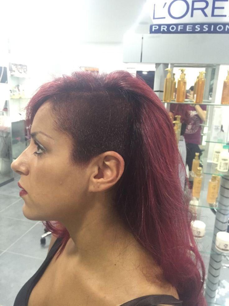 #red #passion #haircolor #hairmodel #color #hair #style #dalcolorechehaialcolorechevuoi #cut #longcut #redpassion #danilo #look