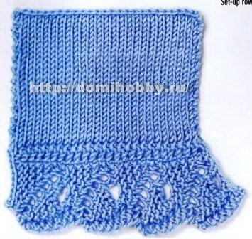 Волнистый бордюр для вязания по краю изделия