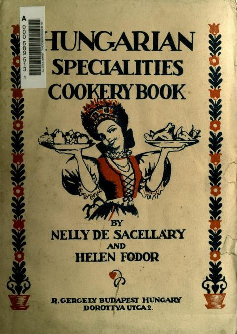 Hungarian specialities cookery book
