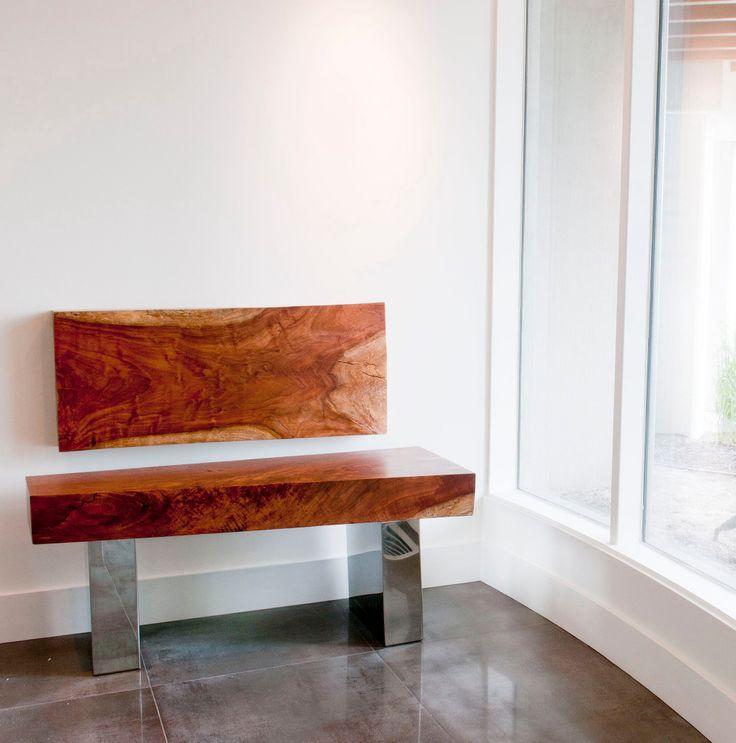 Bench by Andy Ingram @ www.truwood.ca. He's an amazing cabinet maker in kelowna b.c.