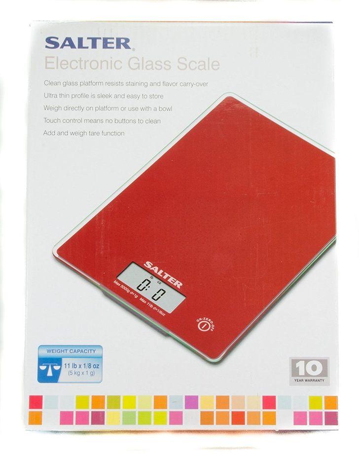 Salter Electronic Glass Scale Red | Casa, jardín y bricolaje, Cocina, comedor y bar, Utensilios de cocina | eBay!