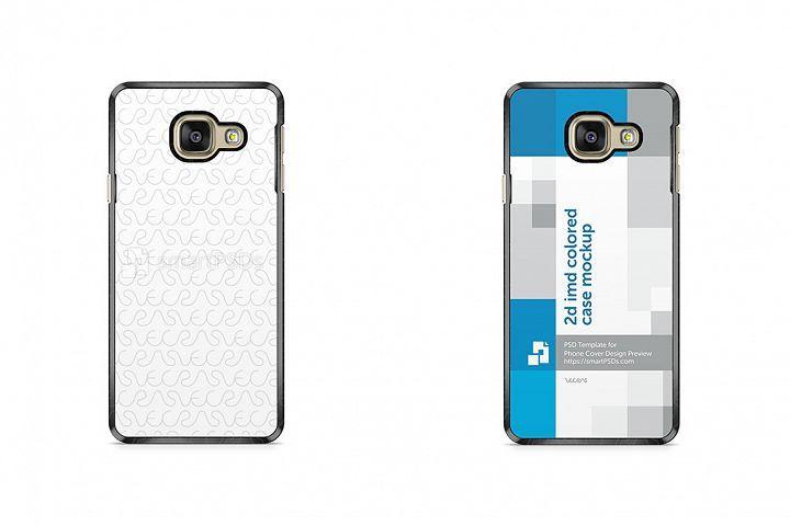Samsung Galaxy A3 2016 2d Imd Colored Mobile Case Mockup 28932 Mockups Design Bundles Mobile Case Design Mockup Design Mobile Cases